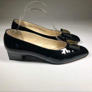 Bally Womens Patent Leather Small Heel Pump Meceda